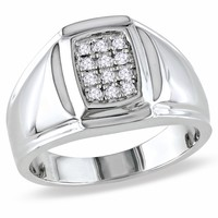 1/10 Carat Diamond Fashion Ring in Sterling Silver