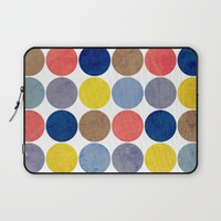 Round and Round Laptop Sleeve by Miss L In Art