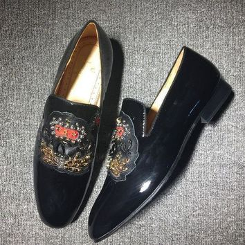 DCCK Cl Christian Louboutin Loafer Style #2417 Sneakers Fashion Shoes