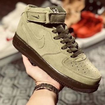 NIke Air Force 1'07 Mid Olive Green