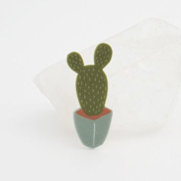 Prickly Pear Cactus Pin