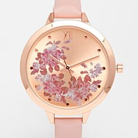 New Look Floral Edge Dial Watch