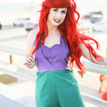 Disney Little Mermaid Ariel Inspired Princess Romper (Disneybound)