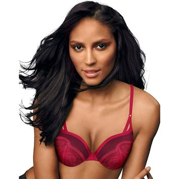 Maidenform Love the Lift  Push Up & In Demi Bra Style: DM9900-Armature Red/Burgundy Sunset 32A