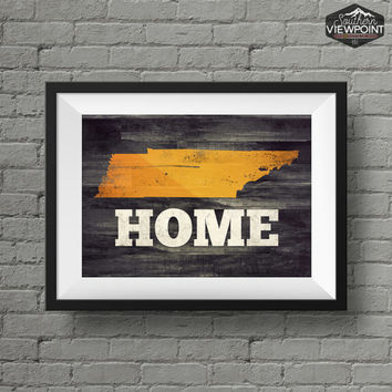 Tennessee Print, State Wall Art, Home Print, Printable Wall Art, Tennessee State Poster, Digital Poster Print, Tennessee Wall Decor