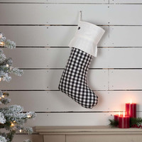 Emmie Check Stocking - Black