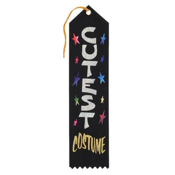 "Beistle Halloween Celebration Birthday Party Cutest Costume Award Ribbon 2"""" x 8"""" Pack of 6"