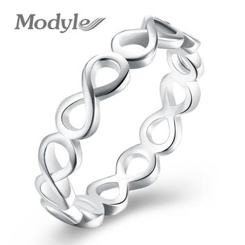 Modyle 2017 New Infinity Ring for Women Silver-Color Wedding Jewelry