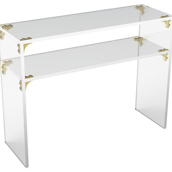 Console Parisienne  Table, Small, Acrylic / Lucite, Coffee