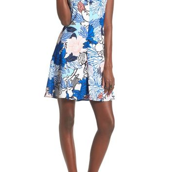 devlin Leslie Floral Print Shift Dress | Nordstrom