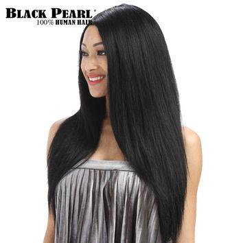 Black Pearl 24inch Full Lace Human Hair Wigs For Black Women Long