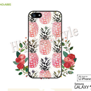 Phone case iPhone 5/5S/5C Case, iPhone 4/4S Case, pineapple S3 S4 S5 Note 2 Note 3 Case for iPhone-A005