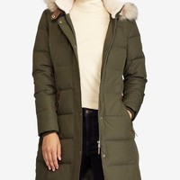 Lauren Ralph Lauren Faux-Fur-Trim Quilted Puffer Coat