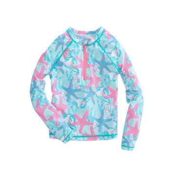 Girls Starfish & Conch Rashguard