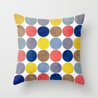 Round and Round Throw Pillow by Miss L In Art
