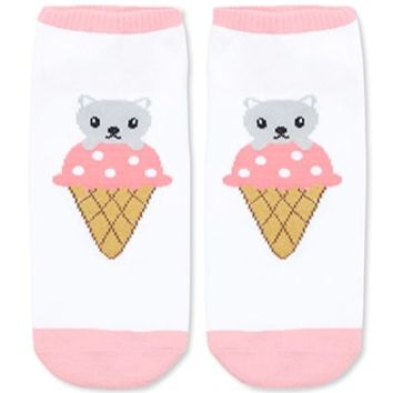 Ice Cream Cat Graphic Socks
