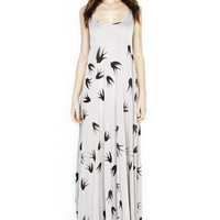Lex All Over Birds Deep Back Maxi Dress – Lauren Moshi