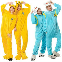 free pp Adventure Time With Finn And Jake Season 2 Adult Onesuit costume Women Men animal pajamas cosplay pyjama Jumpsuit party