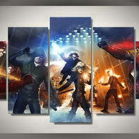 Flash & Green Arrow 5 Piece Canvas LIMITED EDITION