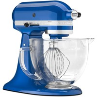 Kitchenaid Artisan 5 Qt Stand Mixer w/ Glass Bowl - Electric Blue