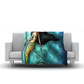 "Mandie Manzano ""Mermaid"" Fleece Throw Blanket"