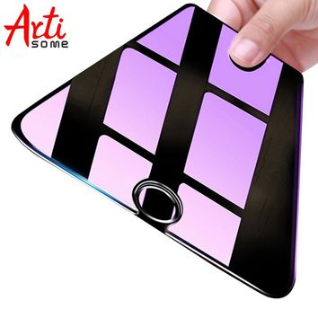 ARTISOME Screen Protector Glass For iPhone 7 6S 6 Plus 5S 5 SE 5C Tempered Glass Anti Blue 9H Film For iPhone 5 6 S 7 Plus Glass