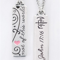 The NOTW Swirl Tablet Fashion Necklace necklace