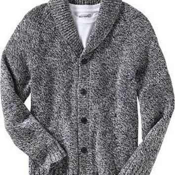Men's Marled Shawl-Collar Cardigans | Old Navy