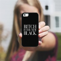Bitch is the new Black Typography Black & White iPhone 5s case by Rex Lambo | Casetagram