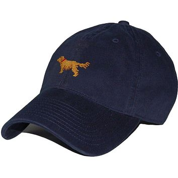 Golden Retriever Needlepoint Hat in Navy by Smathers & Branson