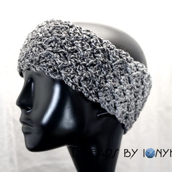 Crochet Handmade Headband, Earwarmer - Thick, Multicolor, Grey, White, Black, Headwarmer, Womens Fashion, Winter Accessories - Holiday Gift