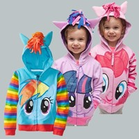 brand children's outerwear, boys girls clothing coat,My little pony jackets, children's coat avengers Hoodies/sweater