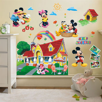 Minnie Mouse and Friends Clubhouse 3D Wall Sticker Vinyl Mural Decal Kids Room Decor