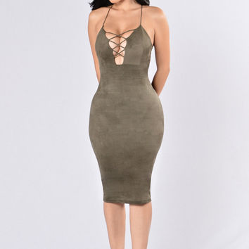 Play The Odds Dress - Olive