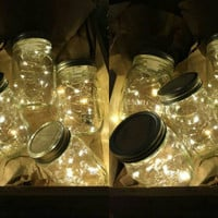 Wholesale Special-12 Firefly Lights with Mason Jar!
