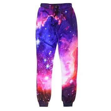 2018 Fashion Galaxy Joggers Pants Women Men Bacon Cat Space 3d Print Jogger Pants Sweatpants Funny Shark Trousers Dropship