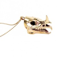 Rhinoceros Skull Necklace by Youreyeslie.com Online store> Shop the collection