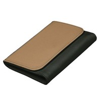 Beige And Black Leather Wallet