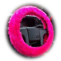 Hot barbie pink fluffy furry fuzzy cute car steering wheel cover girly girl