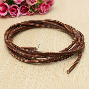 "71"" 3/16""Leather Belt Treadle Parts with Hook for Singer/Jones Sewing Machine HU"