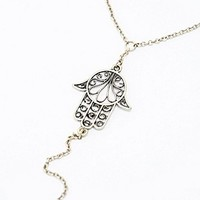 Hamsa Hand Chain in Gold - Urban Outfitters