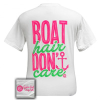 Girlie Girl Boat Hair Dont Care Anchor Comfort Colors T-Shirt