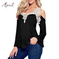Plus 4XL White Lace Black Blouses Sexy Female Vintage 2016 Top Chemise Femme Shirt Ladies Long Sleeve Big Size Women Clothes