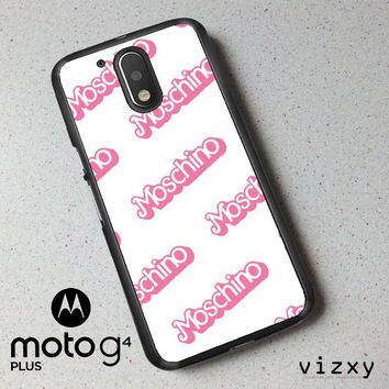 moschino pattern Z5297 Motorola Moto G4 | G4 Plus Case