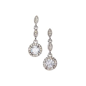 Crystal Fantasy Earrings-18k Gold Plated Drop Earrings