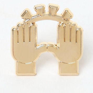 Pintrill Praise Hands Pin at PacSun.com