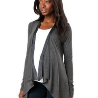 A Pea in the Pod: Long Sleeve Back Interest Maternity Cardigan