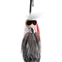 Fendi - Bag-Bug Mini Karlito Keychain with Goat and Fox Fur