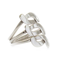 "Silver Ring | ""Triple Hug"" 