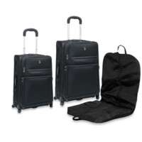 Black 3 Pc Expandable Spinner Luggage Set